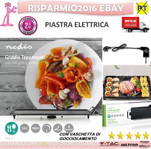 Griglia TEPPANYAKI Elettrica Piastra da Tavolo Antiaderente 2000W Carne Pesce
