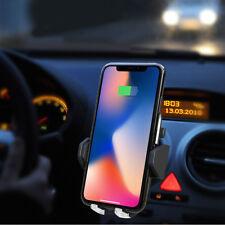 Auto Qi Induktionsladegerät KFZ Handyhalter Ladegerät für Samsung S8 iPhone X/8