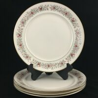 Set of 4 VTG Dinner Plates by Mikasa Grosvenor Rust & Gray Floral Japan L6216