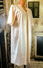 Vintage peach sexy sissy broad anglais nightie gown UK 14-16 Eu 42-44 R16972