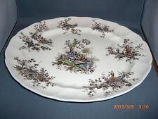 Johnson Bros China  Pastorale Toile de Jouy Multi Colored Oval Serving Platter