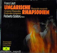 Liszt: Ungarische Rhapsodien (Rapsodie Ungheresi) Szidon LP Deutsche Grammophon