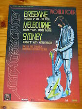 JULIAN CASABLANCAS THE STROKES Australian Tour - Laminated Promotional Poster