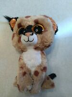 "Ty Beanie Boos Buckwheat Lynx Plush Stuffed Animal 9"" Spotted Cat Brown Tan"