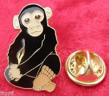 Monkey Lapel Hat Cap Tie Pin Badge Cute Cheeky Ape Chimp Primate