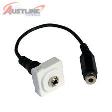 3.5mm Stereo Audio Jack /Socket Female to Female fits Clipsal Wall Plate