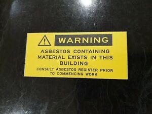 Yellow Warning asbestos stickers x10