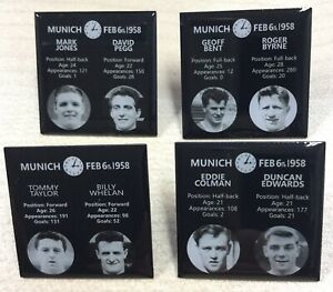 FULL SET OF 4 BUSBY BABES MEMORIAL UNITED FOOTBALL PIN BADGES - VERY RARE