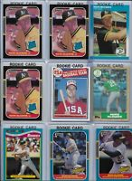 Mark McGwire A's Lot of (15) w/ (11) Rookies 1985 Topps #401 1987 Donruss #1 EX