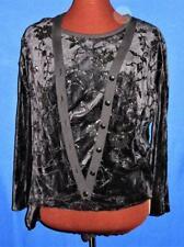 Sonia Rykiel Black Embellished Velour 2 Piece Sweater Set Ladies Medium