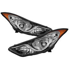 Fit Hyundai 11-13 Elantra Replacement Headlights Left+Right Set GLS/GL/L