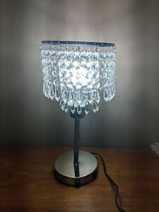 Crystal Table Lamp for Bedroom With Dual USB Port