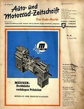 Der Auto-Markt 1950 35/50 Auto- und Motorrad-Zeitschrift ATE Bremse Deutz Diesel
