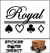 Royal Flush Decal | JDM Poker Blackjack Gambler Casino Lucky Charm Sticker Ace