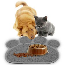 Pet Dog Puppy Cat Feed Mat Dish Bowl Food Water Feed Wipe Clean Placemat TOP