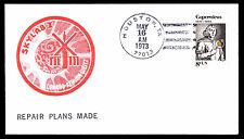 1973 SKYLAB I REPAIR PLANS MADE - HOUSTON, TX - U.S. #1488 FRANKING (ESP#3714)