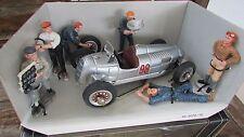 1930's Auto Union race car Schuco Studio II diorama box 5 crew and driver 1:20