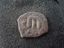 Molto bella Late Roman coin di Giustiniano e non pulite condizione L39f