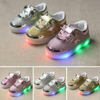 Hot Baby Kids Boys Girls LED Shoes Light Up Luminous Sport Sneakers Unisex Sale