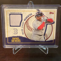 2020 Topps Opening Day Rafael Devers Major League Mementos Fenway Banner Relic