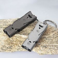 High Decibel Whistle & Keychain | Double Chamber Whistles | EDC Gear