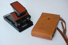 Polaroid SX-70 Model 2 FULLY FILM TESTED + Original Leather Case / Manual