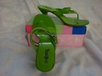 Women Lime Green Heels Pumps Sandals Size 6.5 NIB