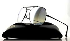 NEW Authentic RAY-BAN THE GENERAL Black Silver Flash Sunglasses RB 3561 002/9U