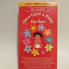 ONCE UPON A POTTY FOR HER  TOILET TRAINING VIDEO VHS   RARE BRAND NEW  MUSIC