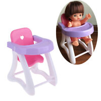 Realistic Baby Doll Dining Chair High Chair Simulation Furniture Playset Toy