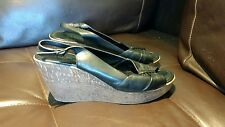 aldo wedges for women size 40 black leather