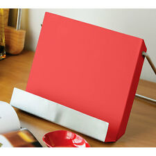 Recipe Stand Rack Holder Red Enamel Help To Create Delicious Meal Cooking Holder