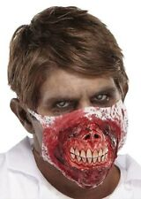 HALLOWEEN ZOMBIE FACE MASK TEETH EVIL ACCESSORY MEDICAL DOCTOR BLOOD FANCY DRESS