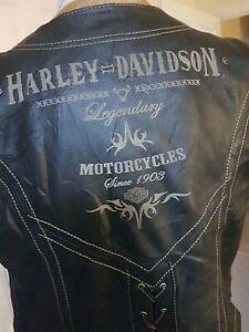 VINTAGE HARLEY-DAVIDSON LEATHER GILET / VEST SIZE XL