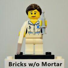 New Genuine LEGO Nurse Minifig with Syringe Series 1 8683