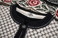 """Dale of Norway """"Nina Grieg"""" Sweater Sz M in Cream, Gold, Black, Red and Green"""