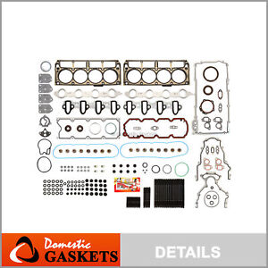 Full Gasket Set Head Studs Fit 04-14 Chevrolet Cadillac GMC Buick 4.8 & 5.3 OHV