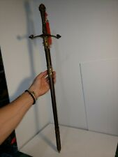 """Decorative Chinese  Stainless steel Dragon Sword gold 31"""""""