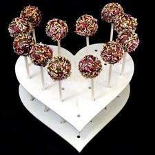 Heart Shaped 15-Hole Acrylic Cake Pop Lollipop Cupcakes Display Stand Holder