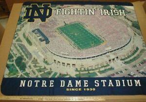 University of Notre Dame Fighting Irish Riddell Football 48x60 stadium New throw