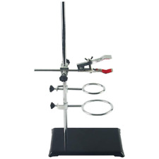 Laboratory Grade Metalware Set With Support Stand 83x55 2 Retort Rings