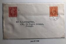 1948 North Easter England Cover Traveling Post Office Tpo To Slough