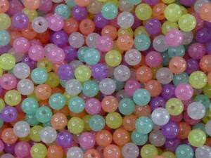 Glow-In-The-Dark 10mm  'Tutti-Frutti Jelly Mix'  Acrylic Beads