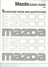 Mazda E2000/E2200 - Technische Daten und Ausstattung 8.92