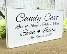 Candy Cart Wedding Sweet Table Sign Personalised Shabby & Chic Venue Decoration