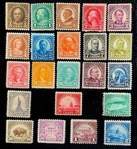 1922-25 US Stamp SC#551-572 Regular Issue Flat Printing CV:$349.6