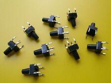 10 Stück DTS-65K Diptronics Tact Switch SPST-NO 6,2x6,2mm, h=9,5mm (M3781)