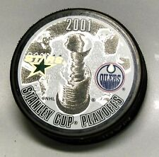 2001 STANLEY CUP PLAYOFFS DALLAS STARS VS EDMONTON OILERS PUCK! US00123