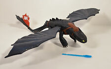 "2010 Shooting Toothless Night Fury 14"" Action Figure How To Train Your Dragon"