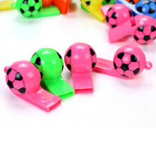10Pcs Colorful Soccer Design Whistle Cheering Props Party Supplies us chic.